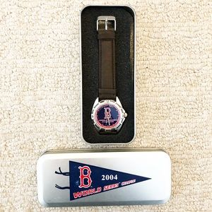 Men's Boston Red Sox World Series watch + case